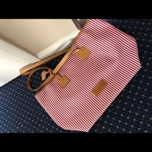 Dooney & Bourke Cindy Tote, pink and white stripe